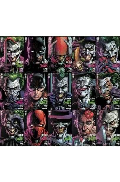 BATMAN THREE JOKERS ENTIRE 15 COVERS SET