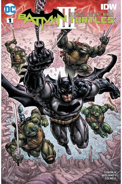 BATMAN TEENAGE MUTANT NINJA TURTLES III COVER a COMPLETE SET 1 - 6 FIRST PRINTING