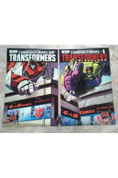 TRANSFORMERS COMBINER WARS GnB COMICS EXCLUSIVE COVER SET